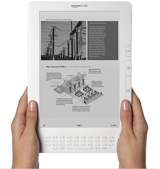 Amazon Kindle DX with hands